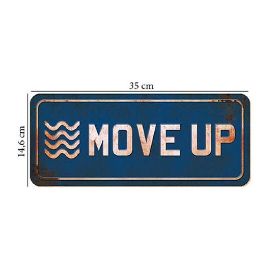 Placa em Mdf e Papel Decor Home Move Up Dhpm2-004 - Litoarte
