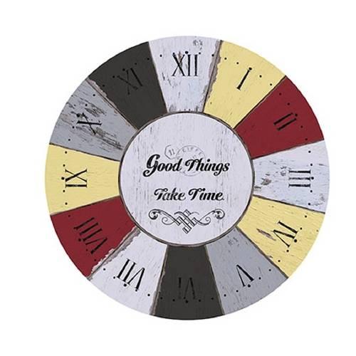 Placa em Mdf e Papel Decor Home Relógio Dhpm-049 - Litoarte