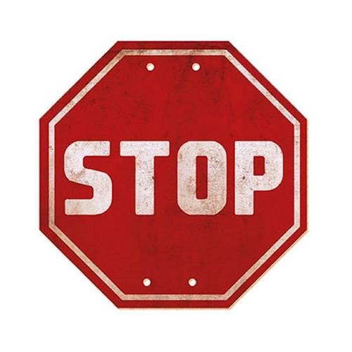 Placa em Mdf e Papel Decor Home Stop Dhpm-005 - Litoarte