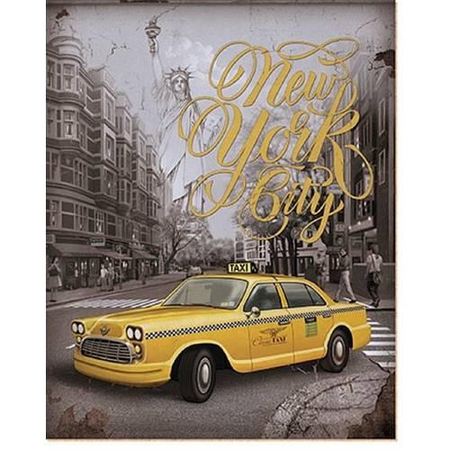 Placa em Mdf e Papel Decor Home Taxi Dhpm-009 - Litoarte