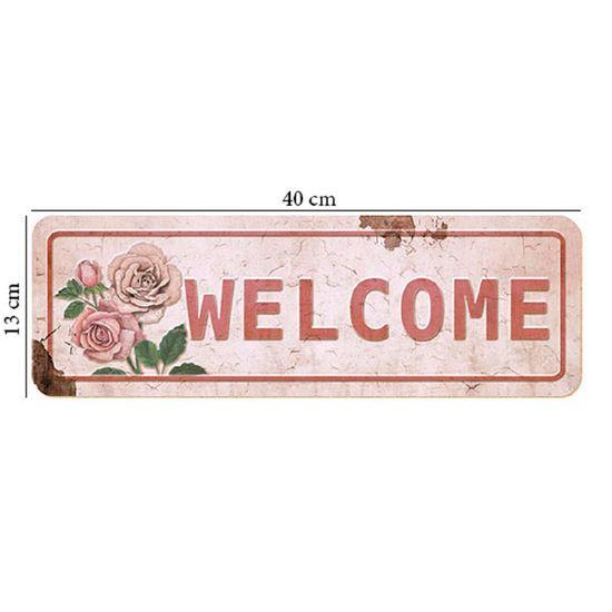 Placa em MDF e Papel Decor Home Welcome DHPM2-010 - Litoarte