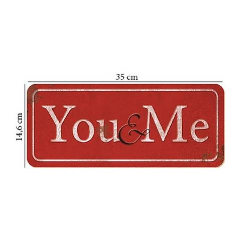 Placa em Mdf e Papel Decor Home You me Dhpm2-002 - Litoarte