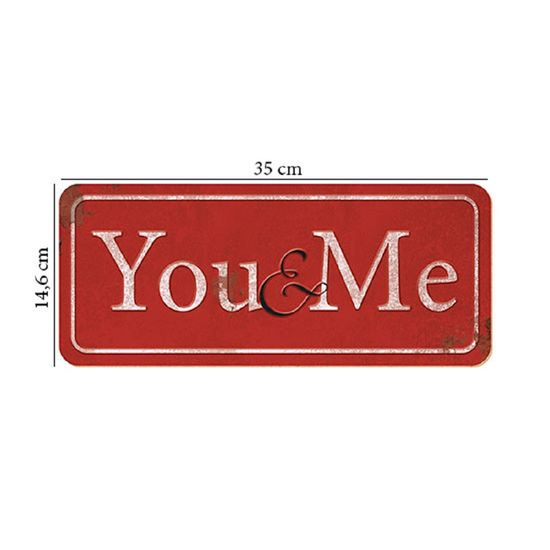Placa em MDF e Papel Decor Home You & me DHPM2-002 - Litoarte