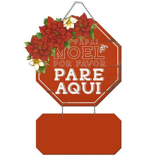 Placa em MDF Natal Litoarte DHN-033 49x28,5cm Papai Noel