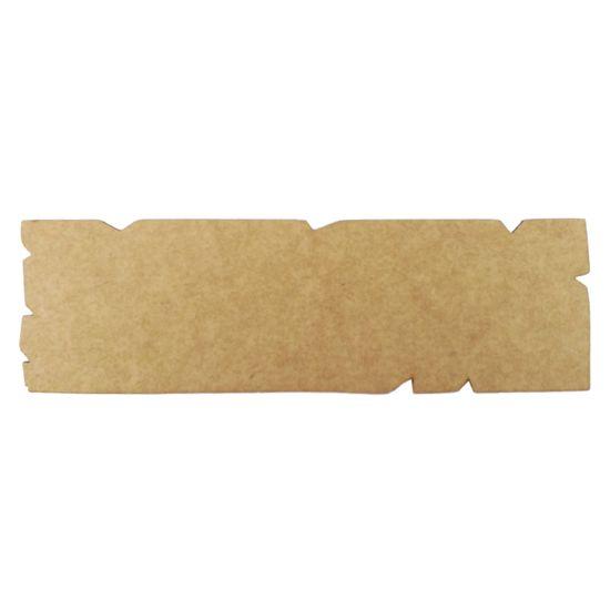 Placa Envelhecida em MDF Crua 25x7,3cm – Palácio da Arte