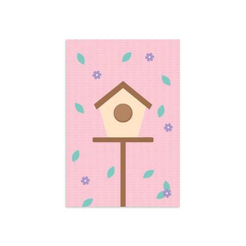 Placa Infantil Decorativa Casa Passarinhos 20x30cm