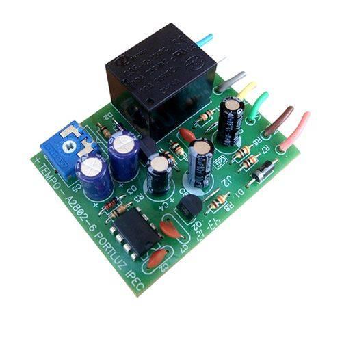 Placa Ipec Temporizadora para Luz - Trava - Fechaduras 12V - A2802