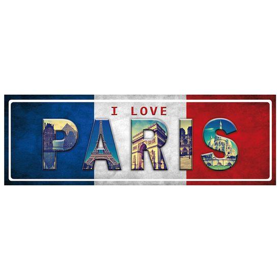 Placa Madeira MDF 13x40 I Love Paris LPD-007 - Litocart