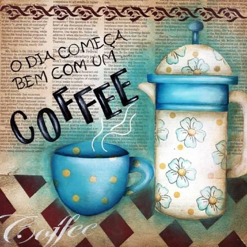 Placa Madeira Quadrada Coffee LPQC-009 - Litocart