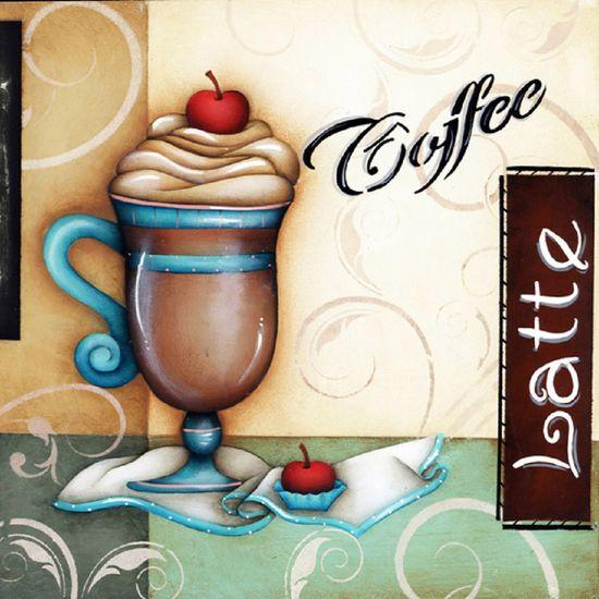 Placa Madeira Quadrada Coffee LPQC-011 - Litocart