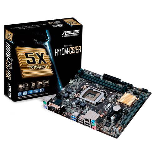Placa-Mãe Asus H110M-CS/BR Intel 1151 DDR4 MATX
