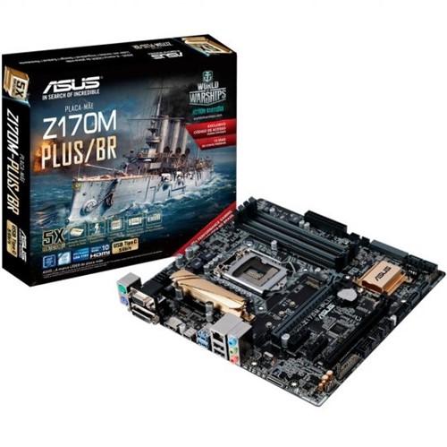 Placa Mãe Asus Z170M-PLUS/BR P/ Intel 6/7a Geração DDR4