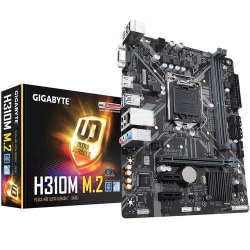 Placa-mãe Gigabyte P/ Intel Lga 1151 H310m M.2 Matx 2 X Ddr4 32gb H310m-m.2