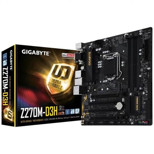 Placa-Mãe GIGABYTE P/ Intel LGA 1151 MATX GA-Z270M-D3H DDR4