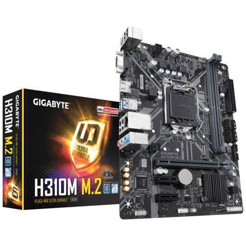 Placa Mãe Intel LGA 1151 Gigabyte H310M M.2 DDR4 USB 3.1 MATX HDMI