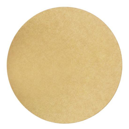 Placa MDF Redonda Natural para Estampar 18,5x18,5cm - Palácio da Arte