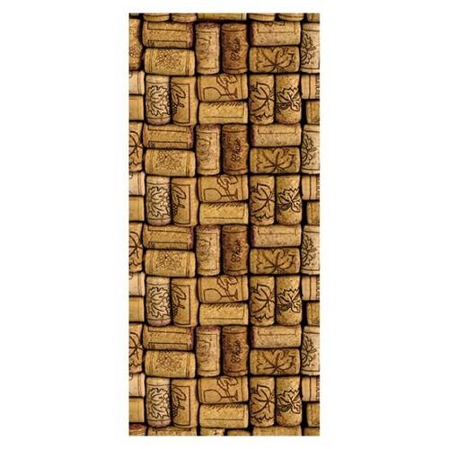 Placa MDF Retangular 28x60 Rolhas de Vinho Encaixadas LPQG-008 - Litocart