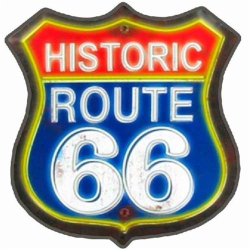 Placa Mdf Rota 66 Gigante