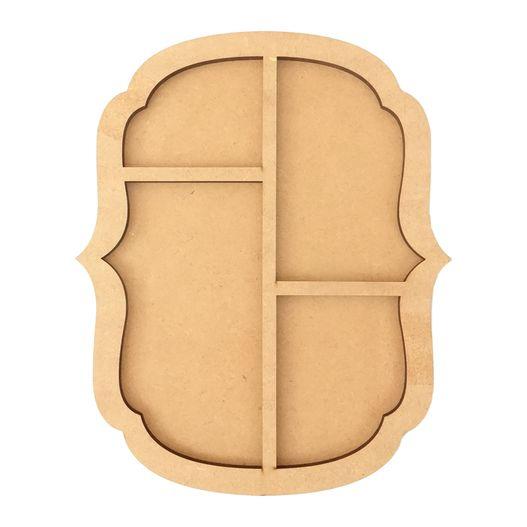 Placa Moldura com 4 Divisões Modelo Pontas