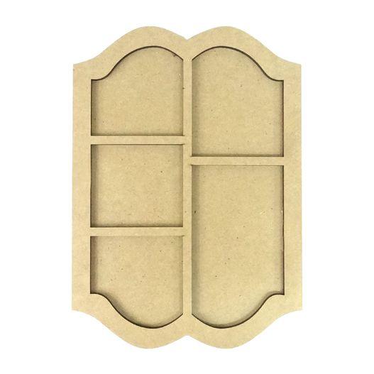 Placa Moldura com 5 Divisões Ondas