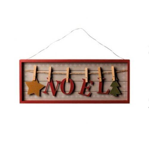 Placa Noel com Pregadores - Cromus