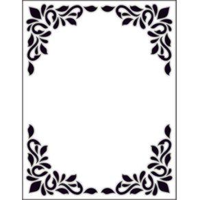 Placa para Relevo 2D 10,7 X 13,9 Cm Quadrado Decorativo Ref.20915-PPR001 Toke e Crie