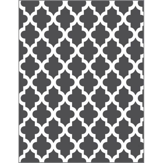 Placa para Relevo 2D Elegance Toke e Crie PPR024 12,7x7,5 Marroquino