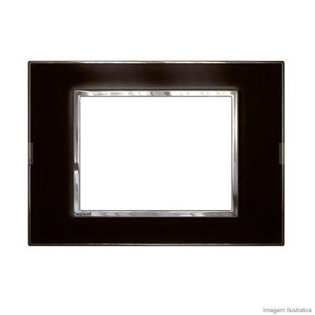 Placa 3 Postos Arteor Mirror Black 4X2 583017 Pial