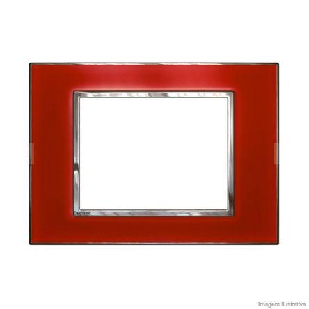 Placa 3 Postos Arteor Mirror Red 4X2 583018 Pial