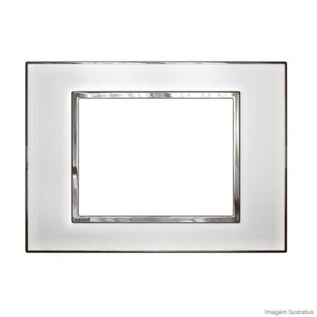 Placa 3 Postos Arteor Mirror White 4X2 583019 Pial