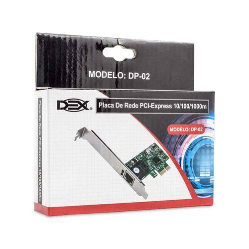 Placa Rede Pci-e Dp-02 10/100/1000 Dex
