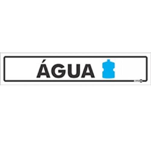 Placa SINALIZAÇÃO Agua (65X30X0,80MM)
