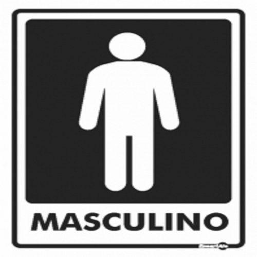 Placa SINALIZACÃO Banheiro Masculino (20X15X0,80MM)
