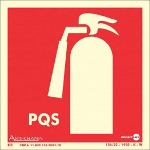 Placa SINALIZAÇÃO Extintor Pqs Fotolum. (18X18)