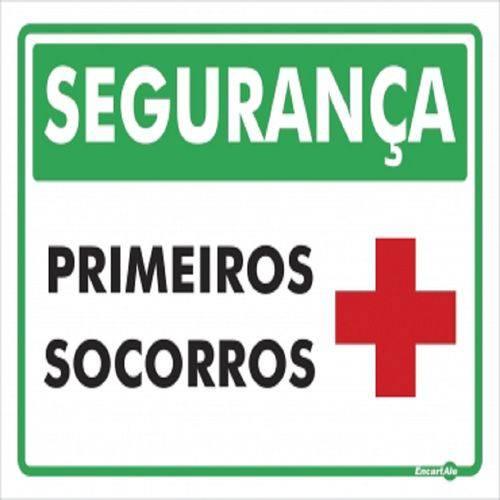 Placa SINALIZACÃO Primeiro Socorros (20X15X0,80MM)