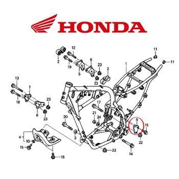 Placa Suporte Traseiro Esquerdo do Motor CRF 230/CRF 150/150R ÚNICA - ÚNICO