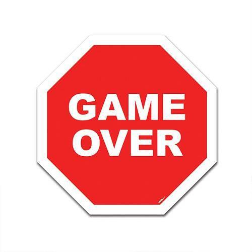 Placa Trânsito Game Over