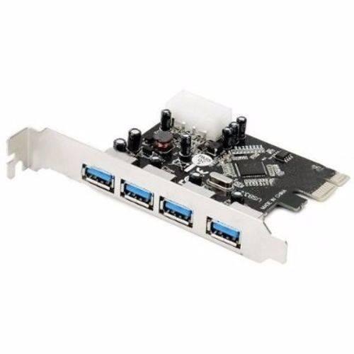 Placa USB 3.0 PCI-E 4 Portas