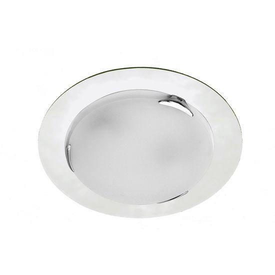 Plafon 102 D 35x8 2 Transparente 2 Lâmpadas e 27
