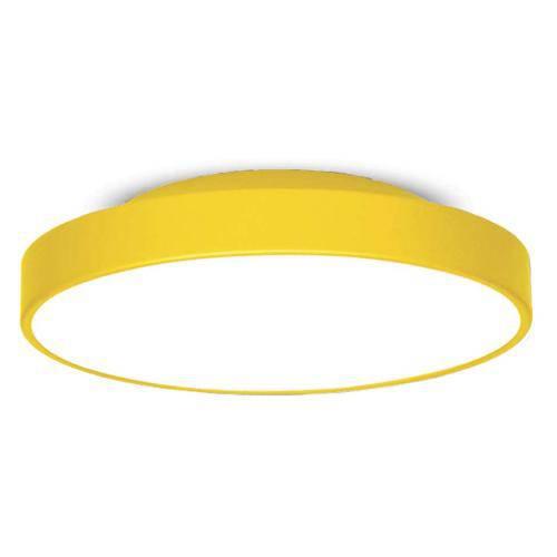 Plafon 7651 Amarelo 2 Lâmpadas Bivolt