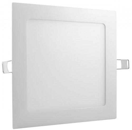 Plafon LED Embutir 12W Quadrado 17X17cm Bivolt Branco Frio