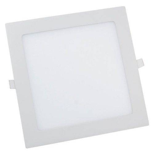 Plafon Led de Embutir 18w Quadrado 22x22 Branco Frio - Cl