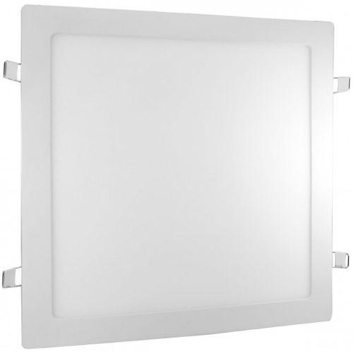 Plafon LED Embutir 25W Quadrado 29,5X29,5cm Bivolt Branco Frio