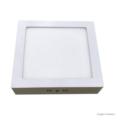 Plafon Sobrepor Home LED Quadrado 12W 3K Bivolt Bronzearte