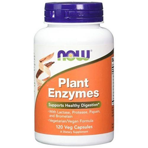 Plants Enzymes 120 Cápsulas Veg Now Foods