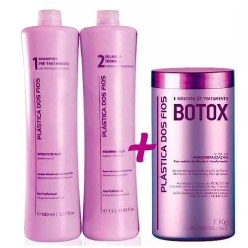 Plastica dos Fios Kit Escova Progressiva + Botox Control 1 Kg