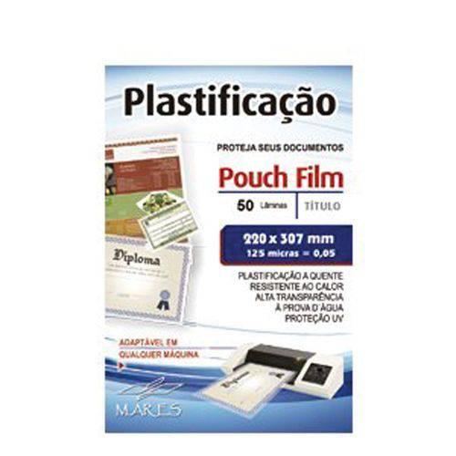 Plástico Mares P/ Plastificação 0,05 (a4) 220x307mm Pct C/50 125 Micras