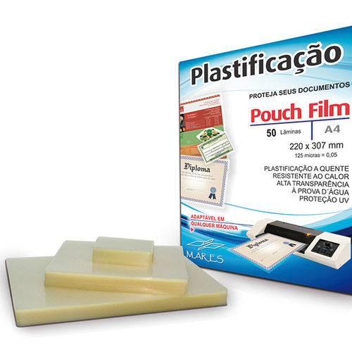 Plastico para Plastificacao Pouch Film A4 220X307 (0,05) Conj/50 Mares