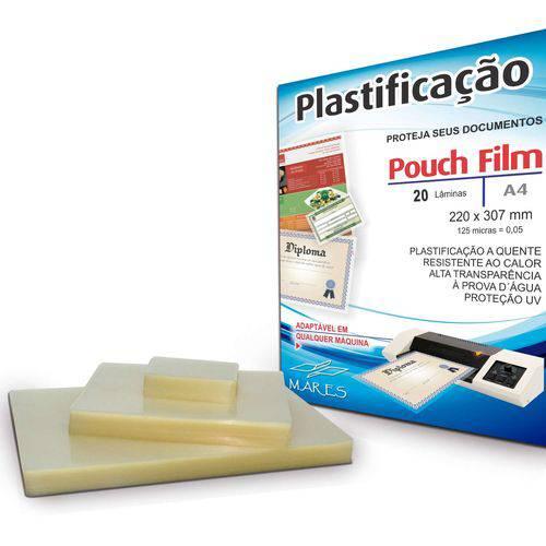 Plastico para Plastificacao Pouch Film A4 220x307 (0,05) Mares Conj/20
