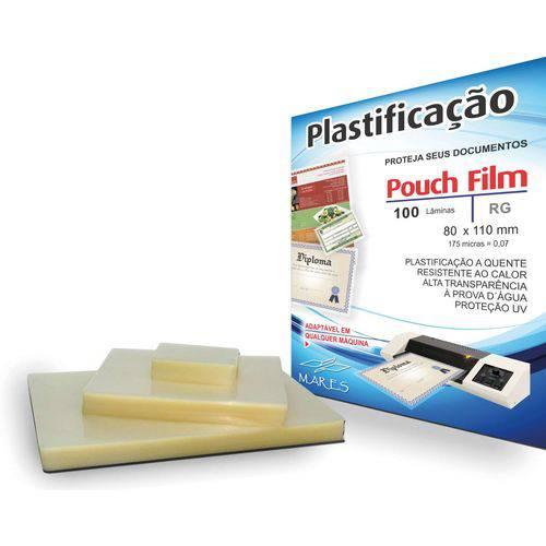 Plastico para Plastificacao Pouch Film R.g. 80x110 (0,07) Mares Conj/100